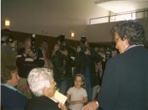 Muchos de los fotografos que inmortalizaron el centenario de Teresa