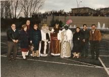 Visita de los Reyes magos a Monelos1996